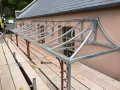 Fabricated galvanized roof frame for balcony at Belmont House, Lyme Regis.
