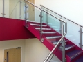...with stainless and glass bannister