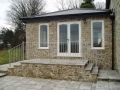 Galvanised finish terraced patio balustrading...