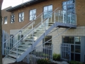 Galvanised steel and glass external staircase, Yeovil