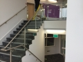 Stainless steel and glass balustrade at Parkstone Grammar School.