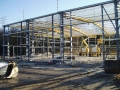 Structural steel frame fabricated and erected...